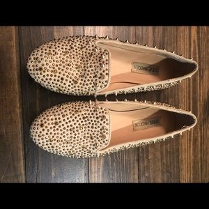 Steve Madden flats with gold spikes